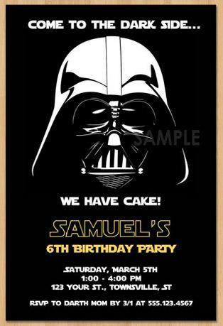 Invitaciones De Cumpleaños Star Wars En 2020 Invitaciones