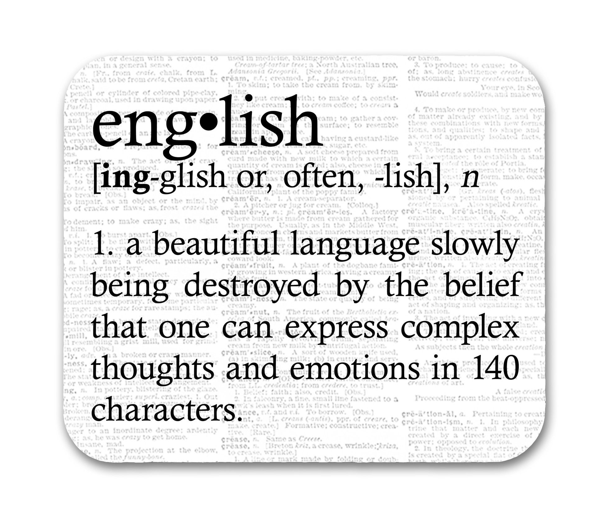 English Definition Funny Quote Mouse Pad Funny quotes
