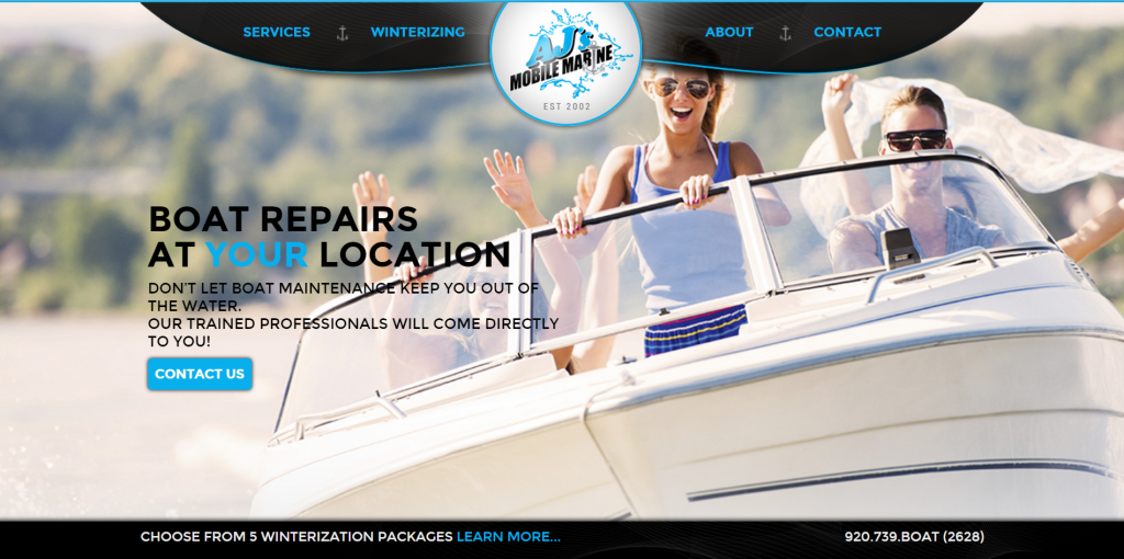 Today we are announcing the launch of AJ's Mobile Marine's