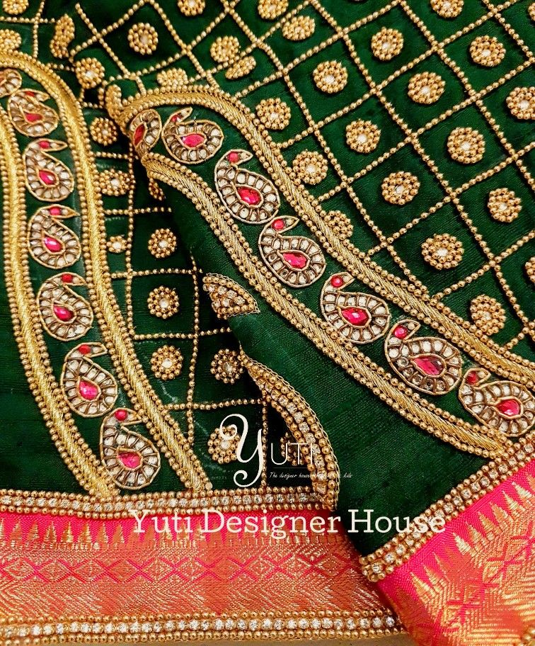 de29cf3c6ce899 Vanki design embroidery by YUTI! For Orders and Queries reach us at  044-42179088   Whatsapp  7010905260 Address  21 Valmiki street