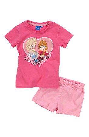 Mega fede Disney Frozen T-shirt + shorts Rosa Disney Frozen Set til Børn & teenager til hverdag og fest