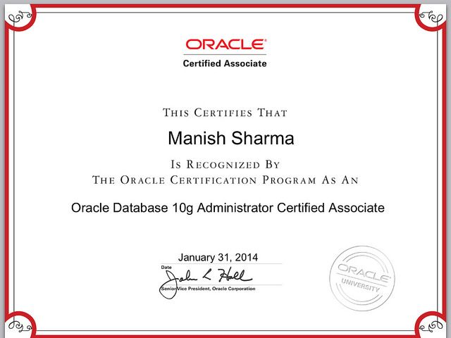 Oracle certified associate (OCA) | Oracle Certified DBA | Pinterest