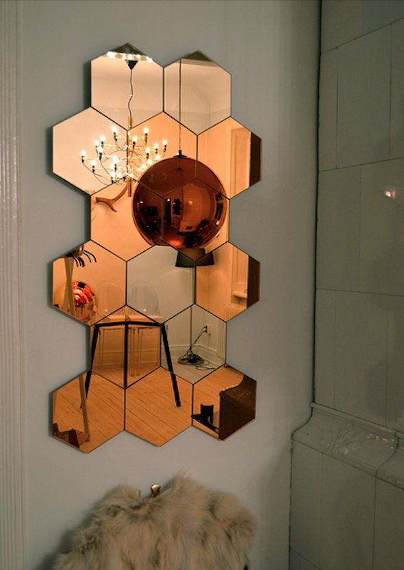 Mirror Arrangement Honefoss Hexagon Mirror Ikea Mirror