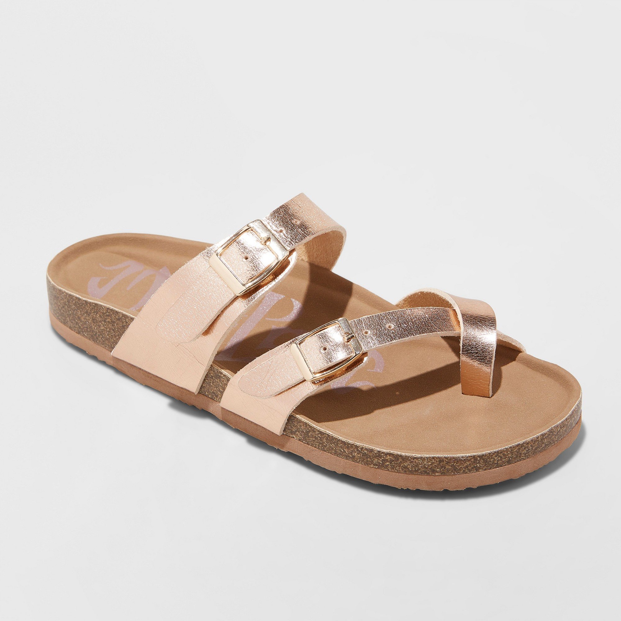 Women S Wide Width Mad Love Prudence Footbed Sandal Rose