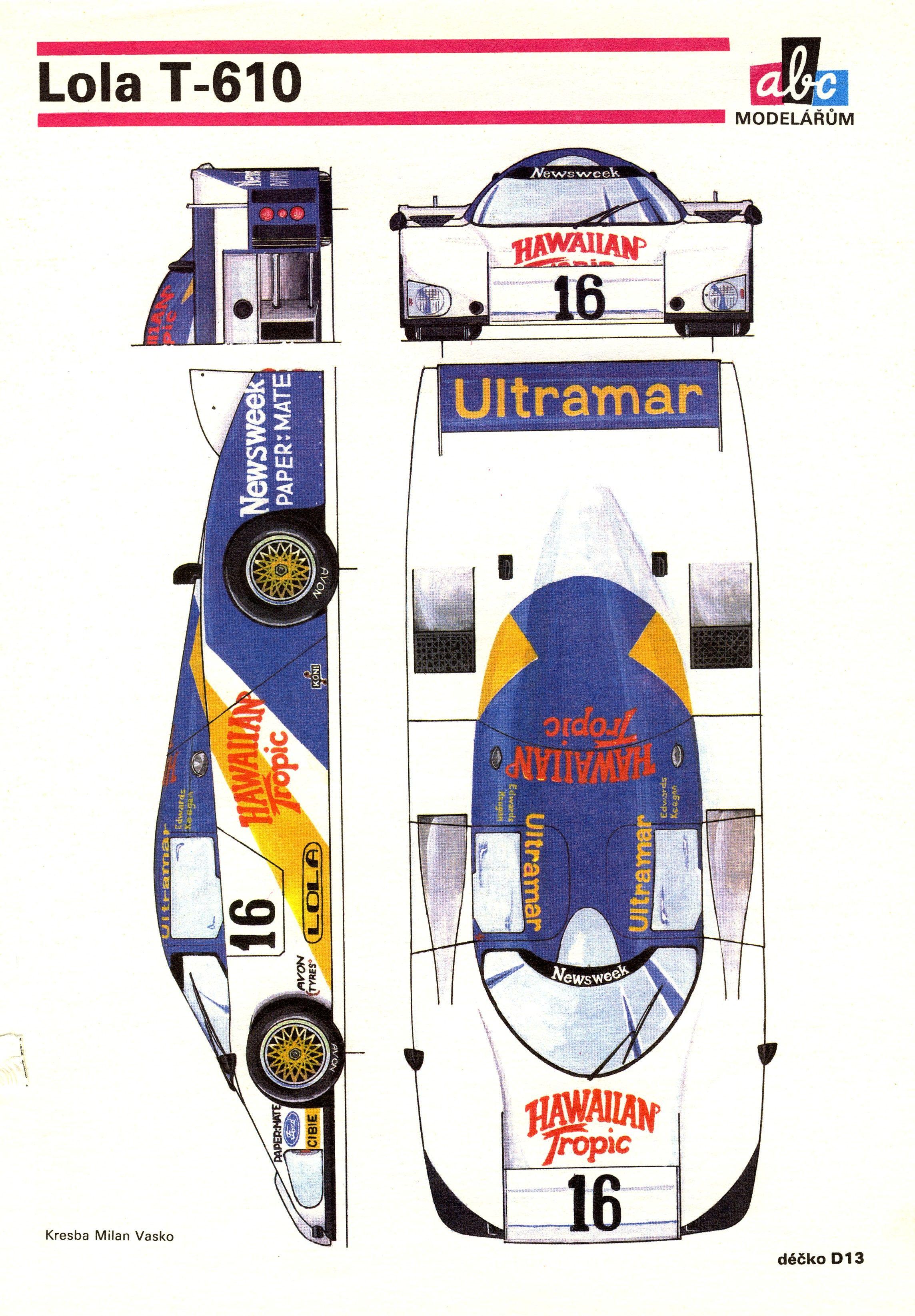 Lola t610 racing car blueprint pinterest cars le mans and car lola t610 malvernweather Gallery