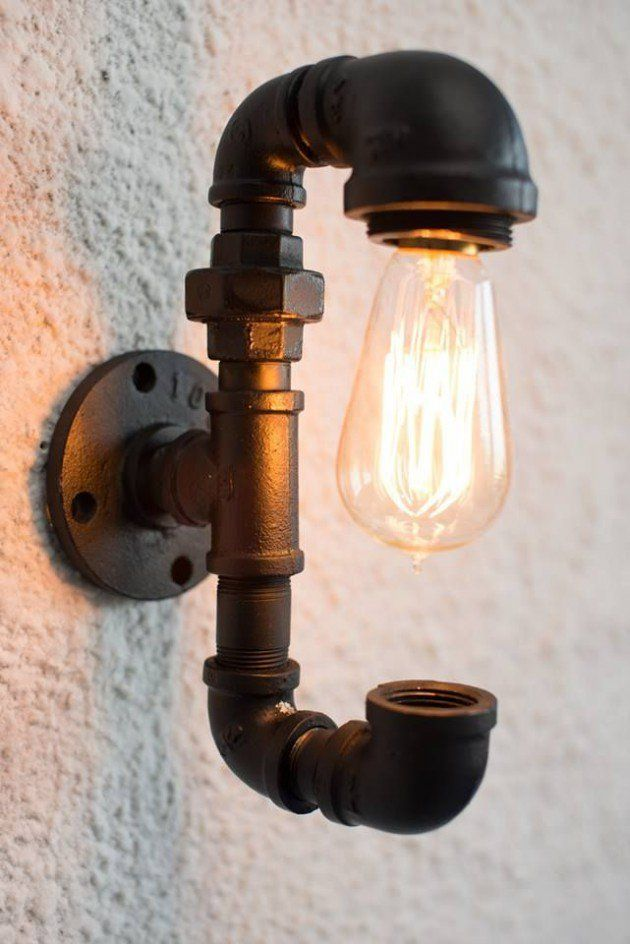 16 functional diy pipe lamp design ideas lamp design 16 and sconces 16 functional diy pipe lamp design ideas mozeypictures Gallery