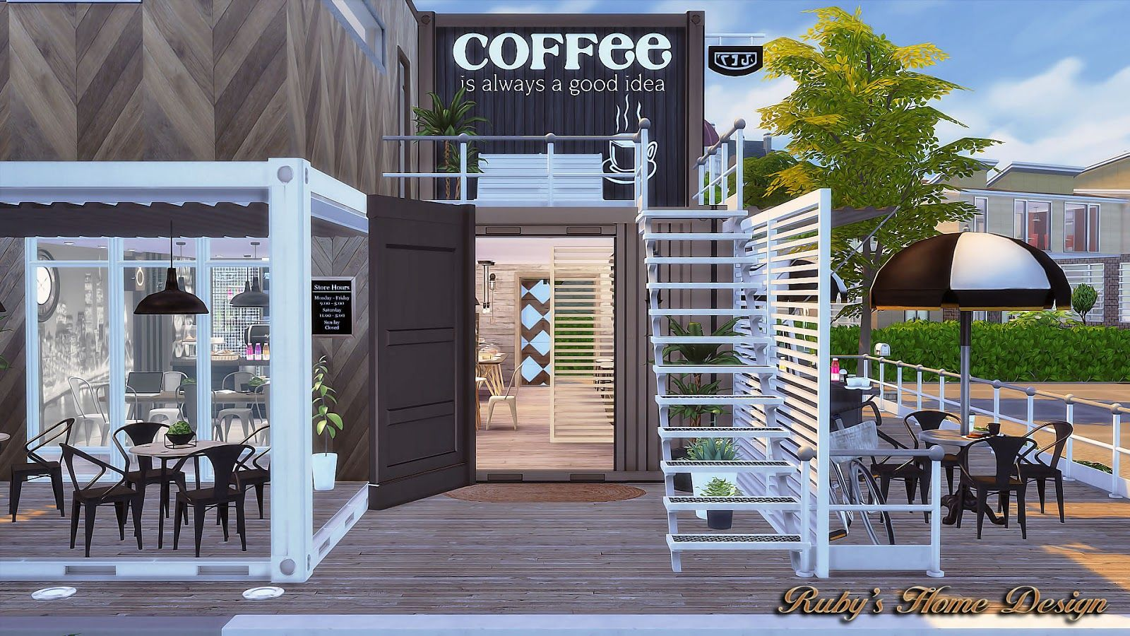 Sims 4 Coffee House