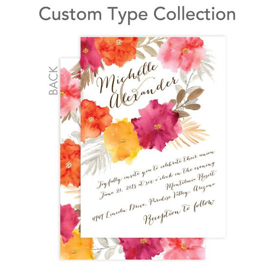 Signature Custom Wedding Invitations Brushed Blossoms By Wedding Paper Divas Wedding Paper Divas Wedding Invitations Wedding Stationery
