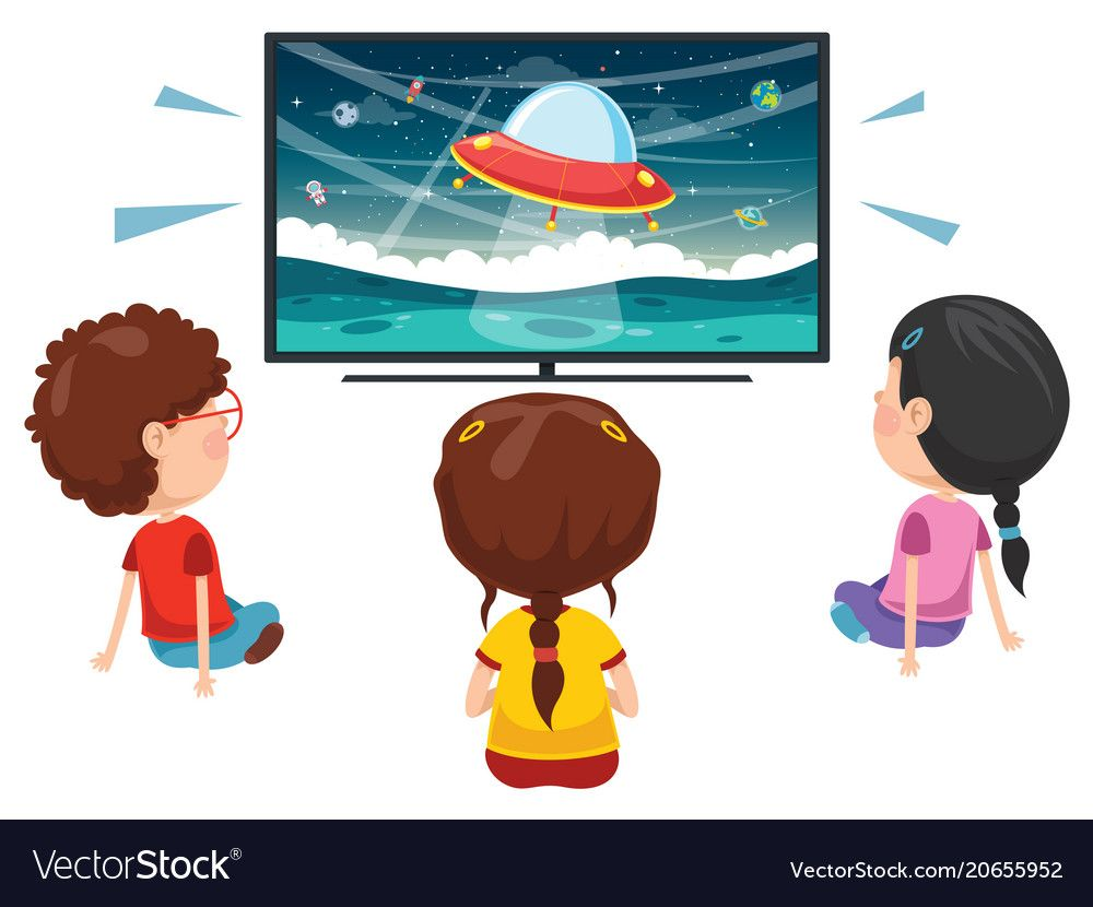 Kid Watching Tv Download A Free Preview Or High Quality Adobe Illustrator Ai Eps Pdf And High Resolution Jpeg Versions Kids Vector Best Friends Cartoon Kids