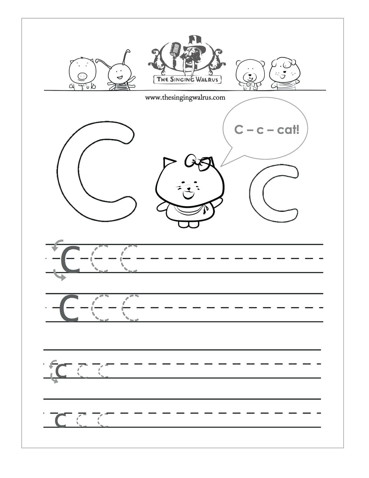 Letter C Worksheets To Learning Letter C Worksheets
