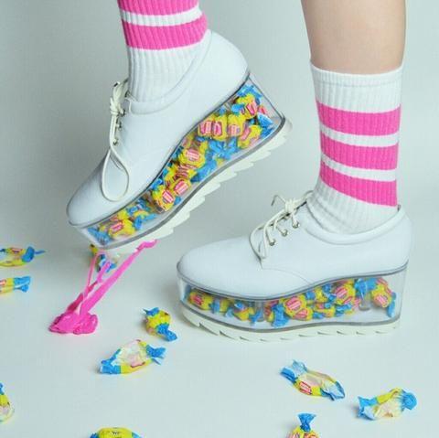 Transparent Platform Shoes Customizable White Market Usa Platform Shoes Outfit Kawaii Shoes Funky Shoes