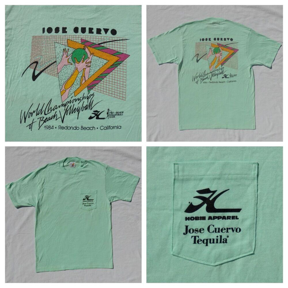 Vintage 80s Hobie 1984 World Championship Beach Volleyball Tour Shirt Mens Xl Fashion Clothing Shoes Accessories Menscloth Shirts Tour Shirt Mens Shirts