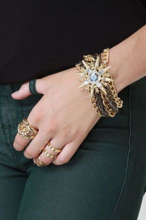 Cute Gold Bracelet - Chain Bracelet - $16.00