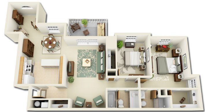 2 Bedroom With A Den At Ocean Aisle Apartments Ocean Aisle Oceanaisle Apartments Apartment Floorplan 2bedro Condo Floor Plans House Styles Floor Plans
