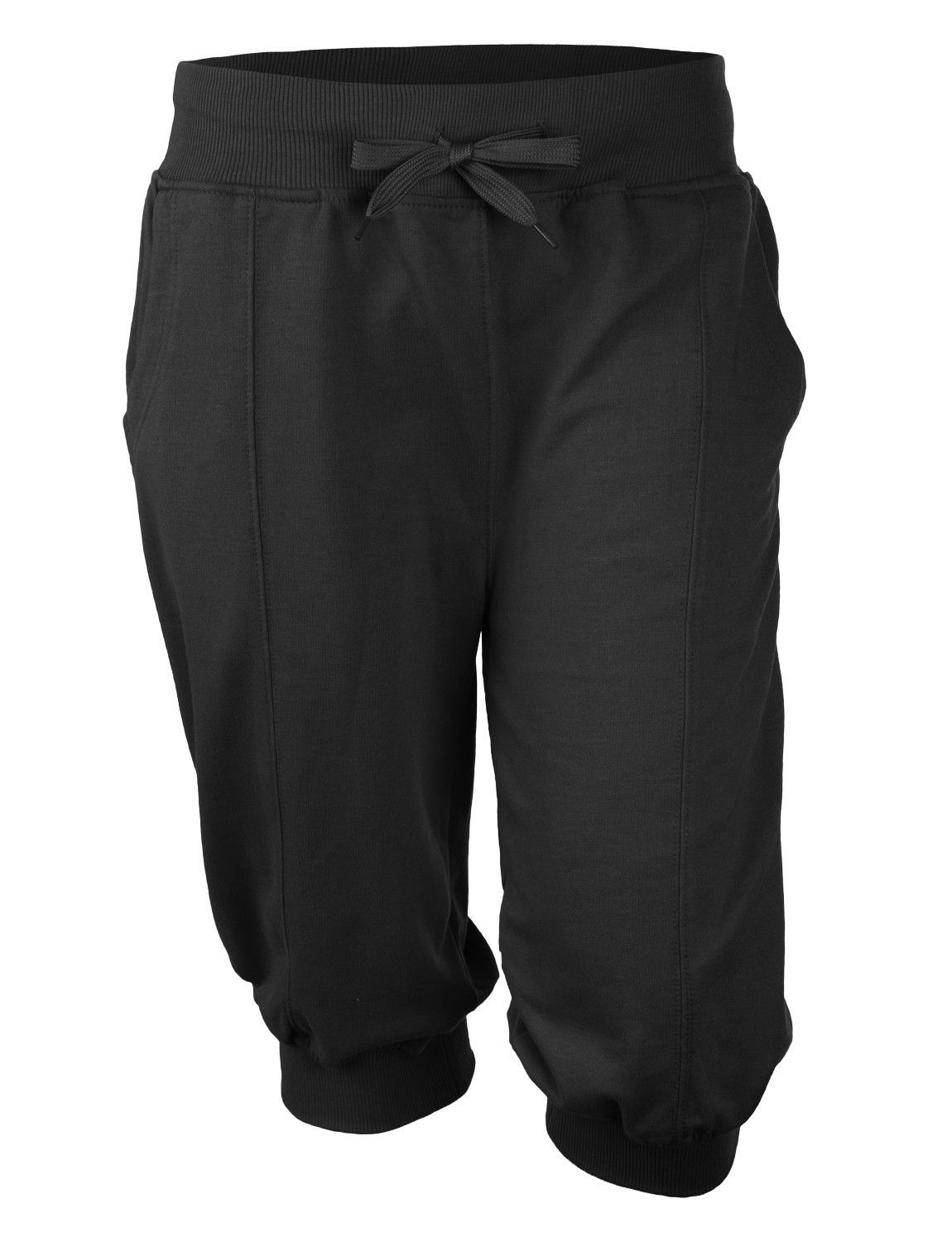 Mens Casual Solid Terry Cloth Jogger Capri Pants with Pockets ...