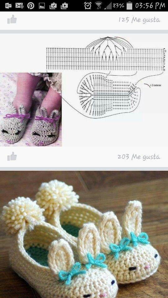 zapatitos conejo   zapatitos   Pinterest   Conejo y Zapatos