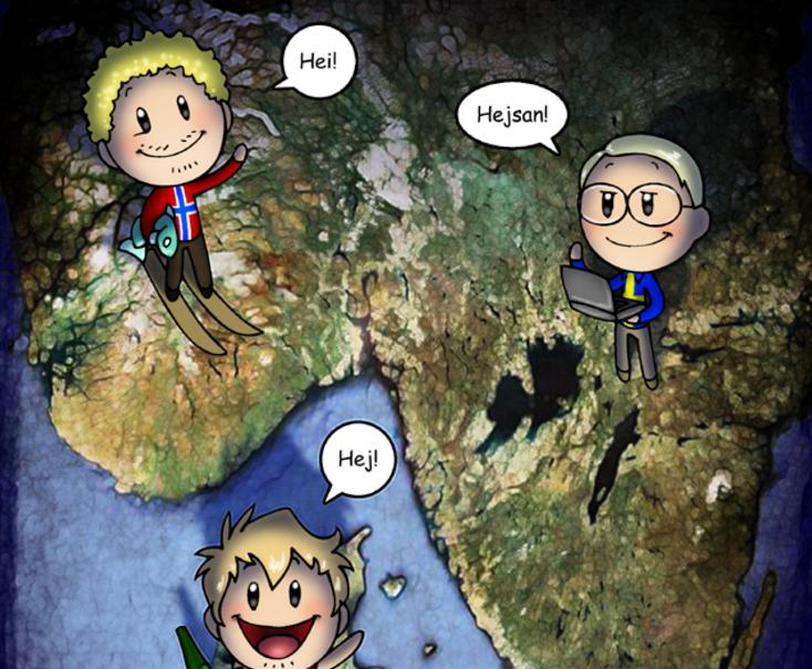Scandinavia And The World Web Comic Scandinavian Scandinavia Online Cartoons