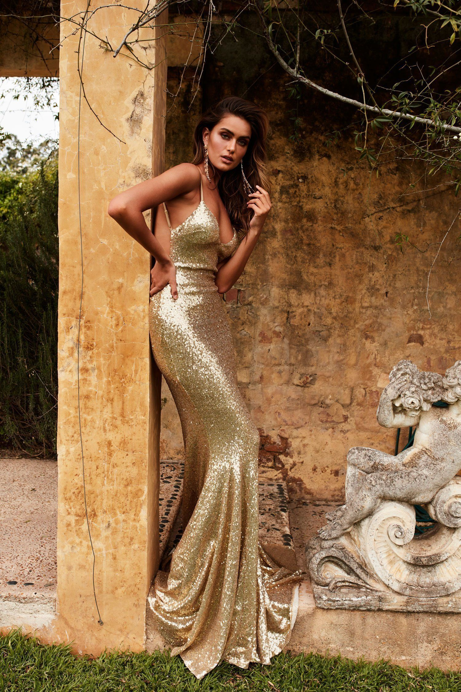 74a564a6 Yassmine Luxe Sequin Gown - Gold in 2019 | Fashion | Sequin gown ...