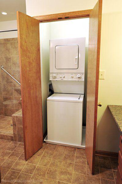 Laundry Closet In Bathroom Case DesignRemodeling Birmingham - Bathroom remodeling birmingham al