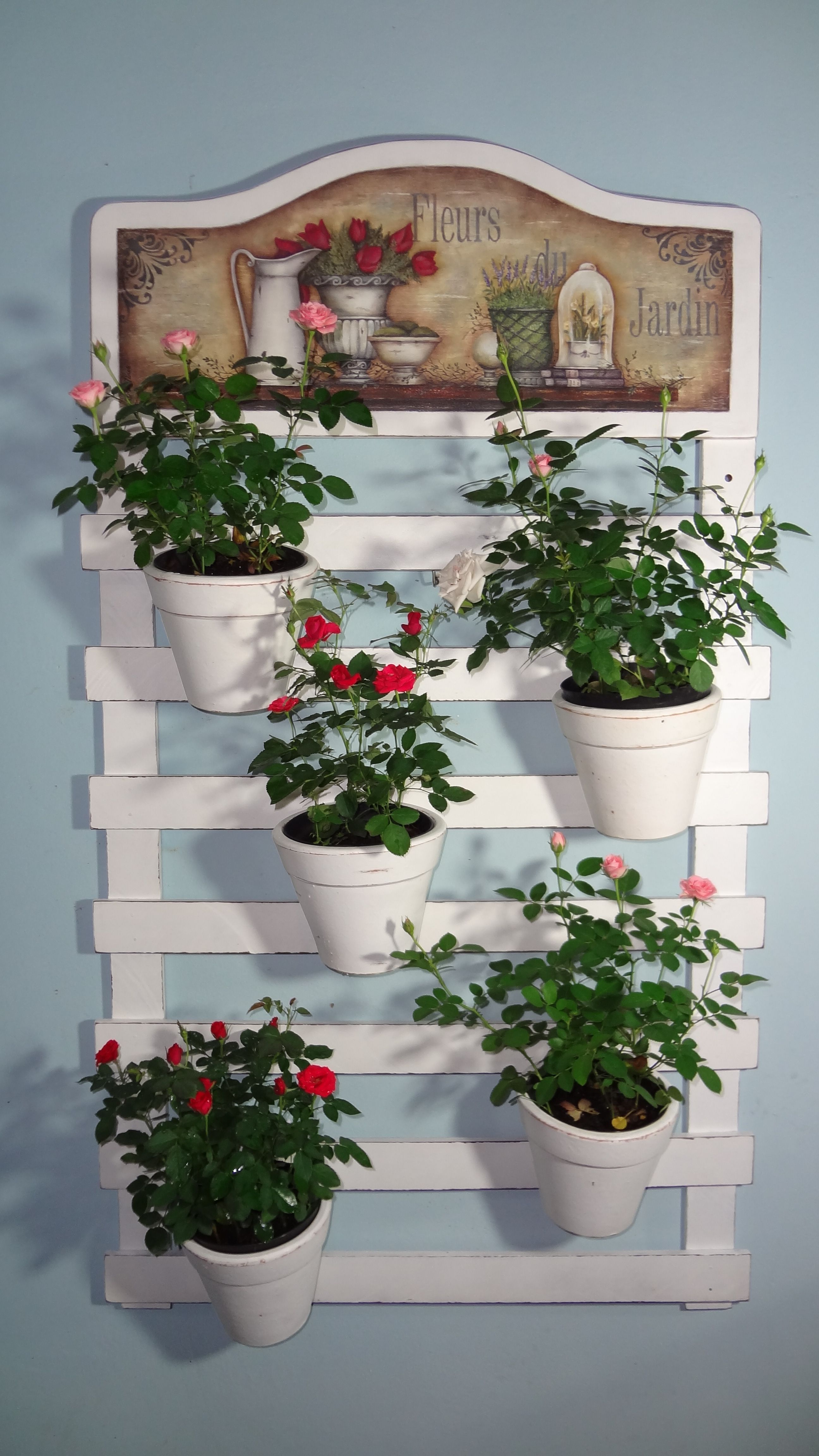 Fioriere Originali Fai Da Te fioriere da parete fai da te con bancali! 20 esempi per
