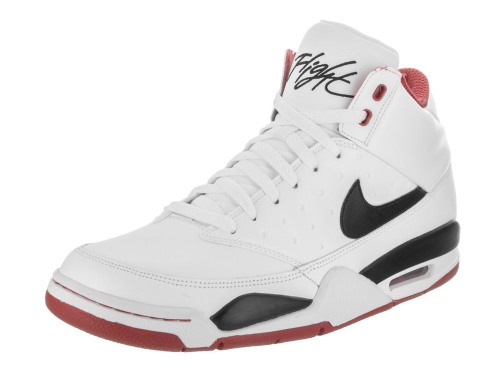 Consejo Pies suaves Abolladura  MEN'S NIKE AIR FLIGHT CLASSIC SHOES WHITE - BLACK 414967 100 MOST SIZES 6 -  15 #Nike #BasketballShoes | White shoes men, Red basketball shoes, Nike