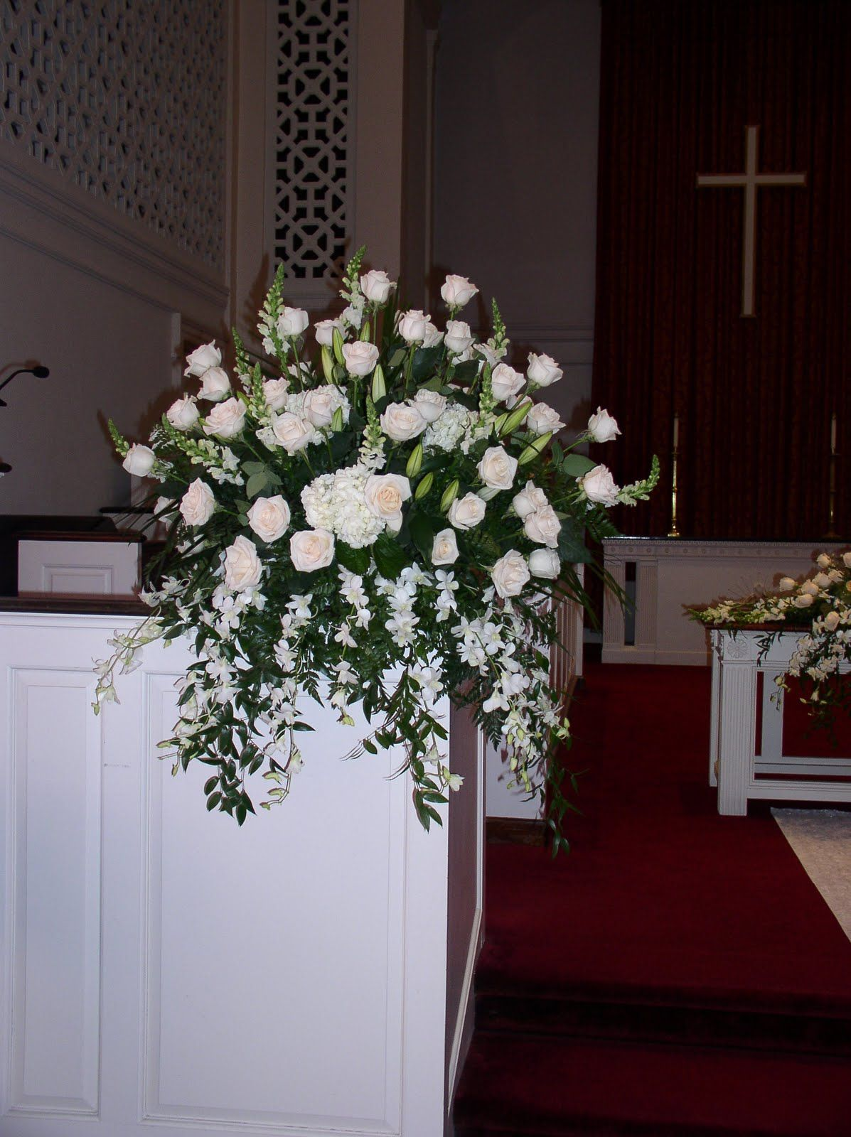 church wedding floral arrangement | Church wedding pieces. (each arrangement  is $300) http