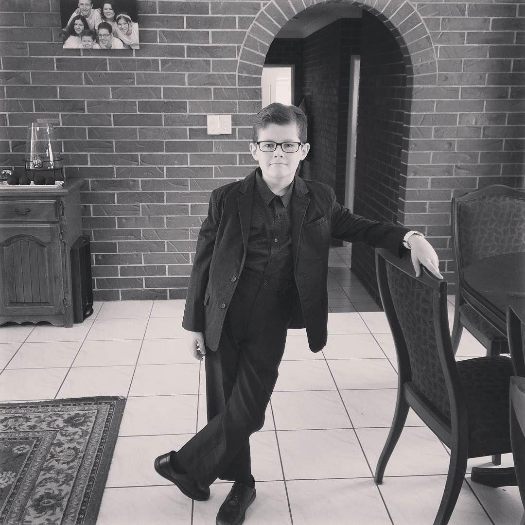 Mr Jedidiah ready for church