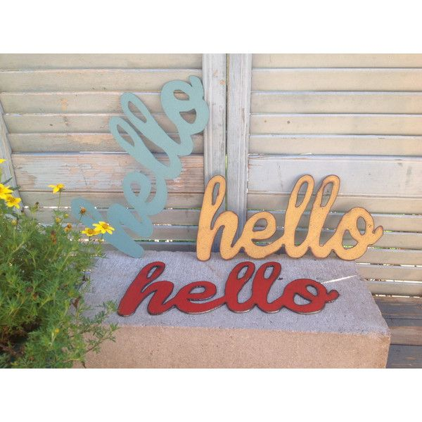 Pin By Bizarrejewelry On Bbeautiful With Images Hello Sign Word Wall Art Wall Signs