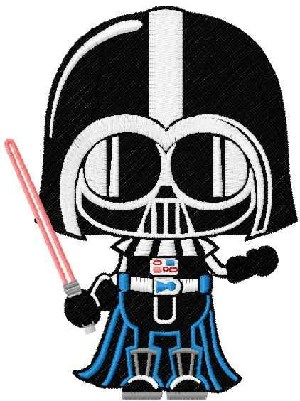 Darth Vader Chibi Embroidery Design From Star Wars