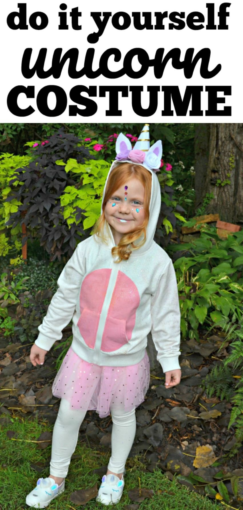 6231d44a Do it Yourself Kids Unicorn Halloween Costume - learn how to do simple  Unicorn Makeup with