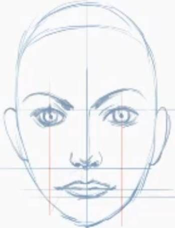 Guidelines For Placing Ears On A Portrait Girl Face Drawing Face Proportions Drawing Nose Drawing