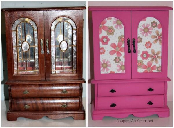 Thrift Store Jewelry Box Makeover How To Make A Painted Jewelry Box Jewelry Box Makeover Jewelry Armoire Diy Jewerly Box Diy
