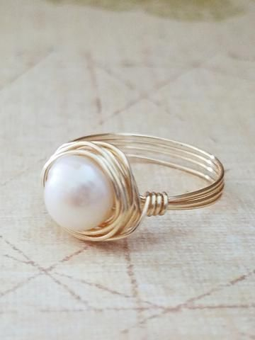 Freshwater Pearl Ring - Made to order