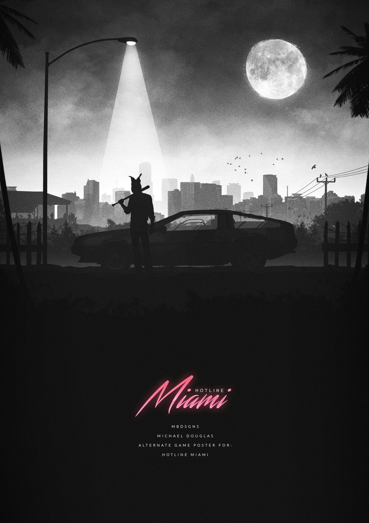 Hotline miami posters created by michael douglas you can check out more of his