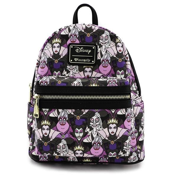 124f935f2be loungefly disney female villains evil queen vegan purple mini backpack  purse evil-queen malificent shoulder-bag vegan purse