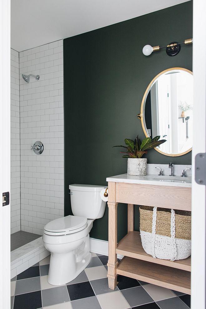 Colour Feature Sunday Dark Green Bathroom Wall Colors Painting Bathroom Small Bathroom Diy