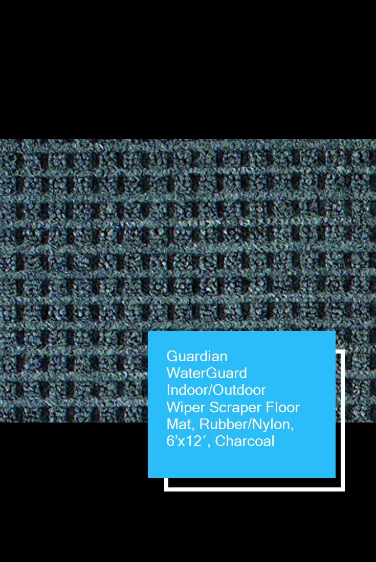 ca0702cdbea4 Guardian WaterGuard Indoor/Outdoor Wiper Scraper Floor Mat, Rubber/Nylon, 6'