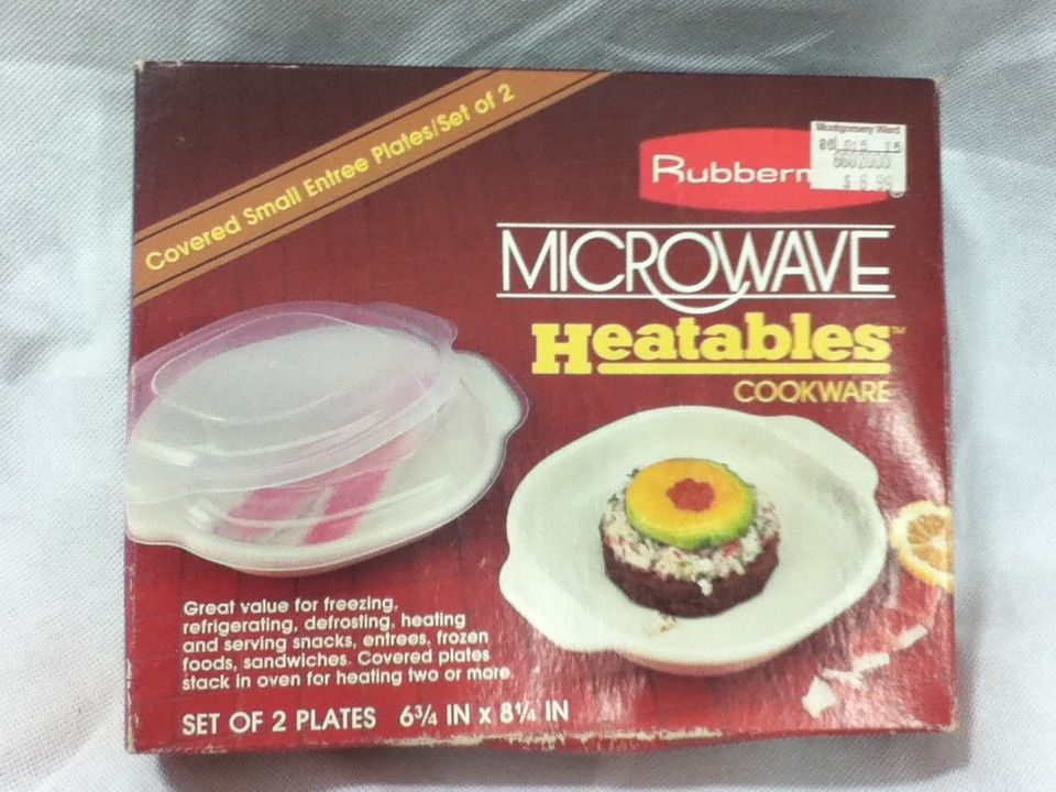 Rubbermaid Microwave Heatables Cookware Covered Divided Plate ...