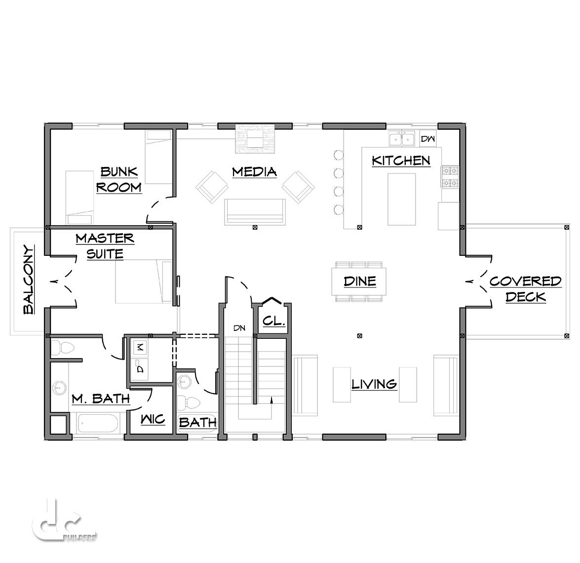 48 ft barn home floor plans dc building home and for Carport apartment plans