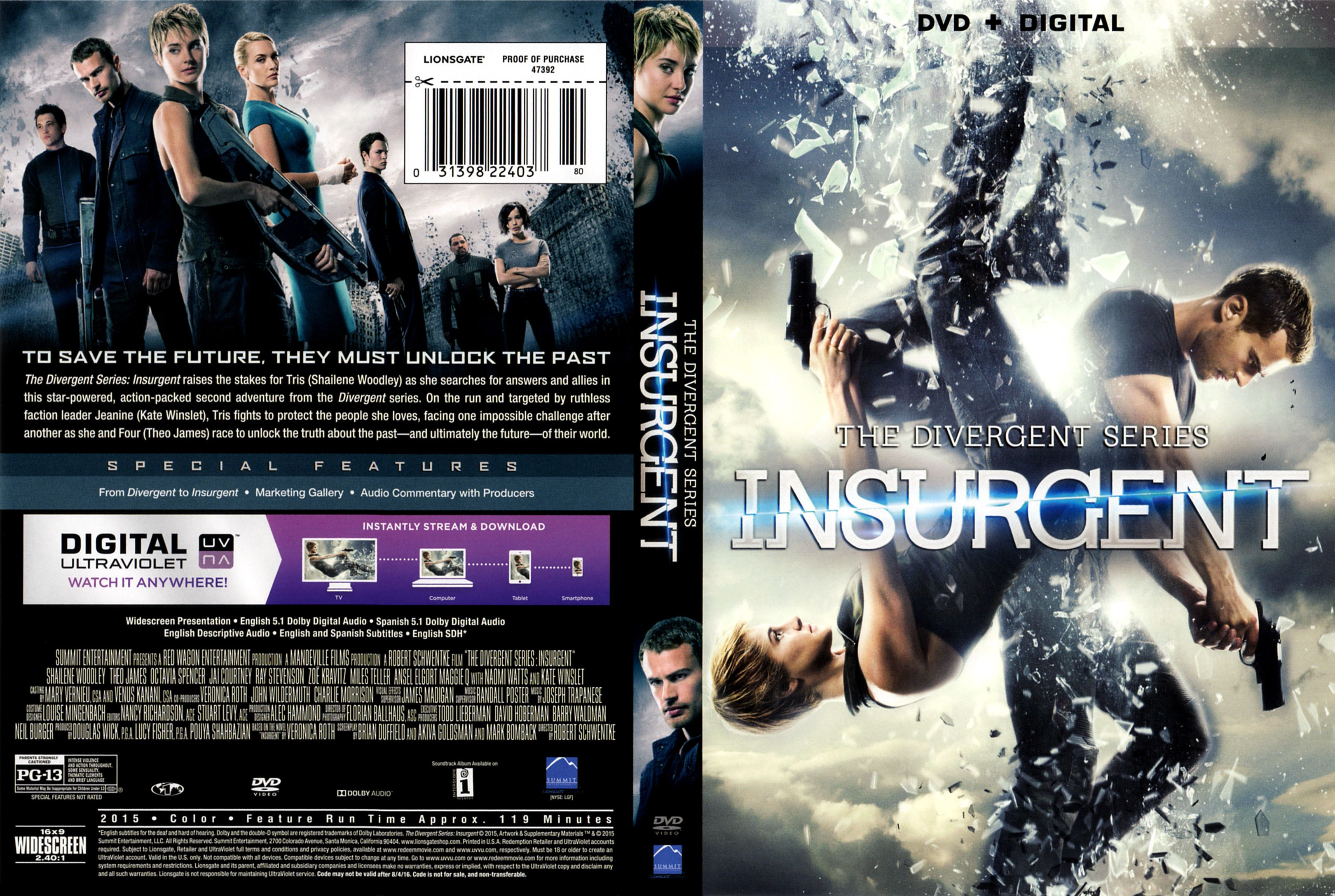 449bf178861400 Free Insurgent DVD Cover   Label (2015) R1 ready to download and print.  Free online retail movie dvd covers art archive database.