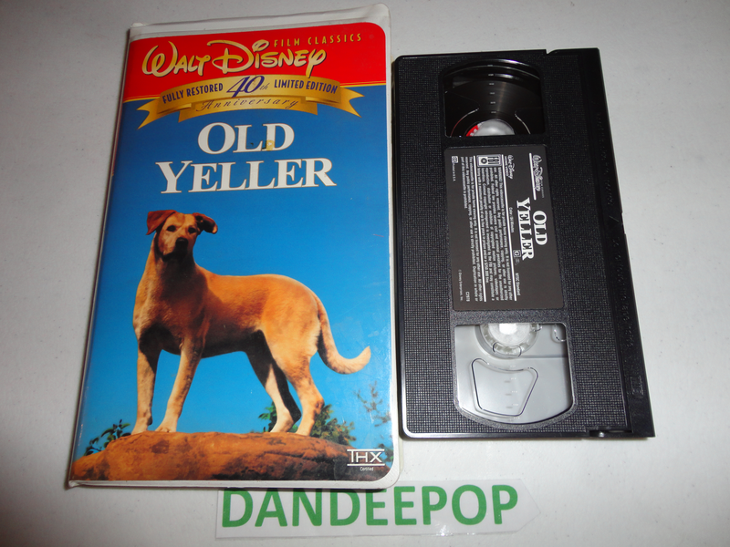 walt disney film classics old yeller th anniversary movie vhs  walt disney film classics old yeller 40th anniversary movie vhs me at dandeepop