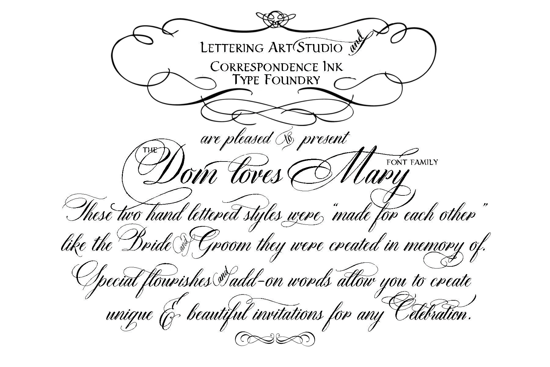 Dom loves mary calligraphy font is launched calligraphy fonts word clip art wedding embellishments font script font wedding font filmwisefo Image collections
