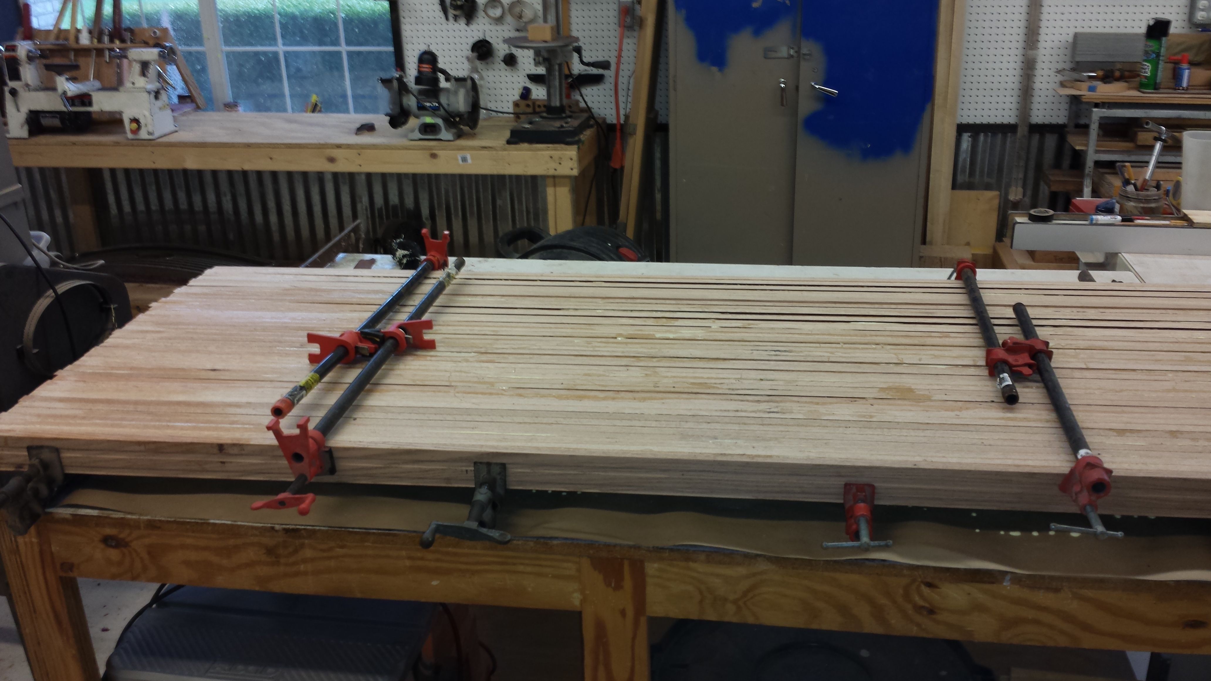 butcher block top 30 quot x8 glue up things i made tr