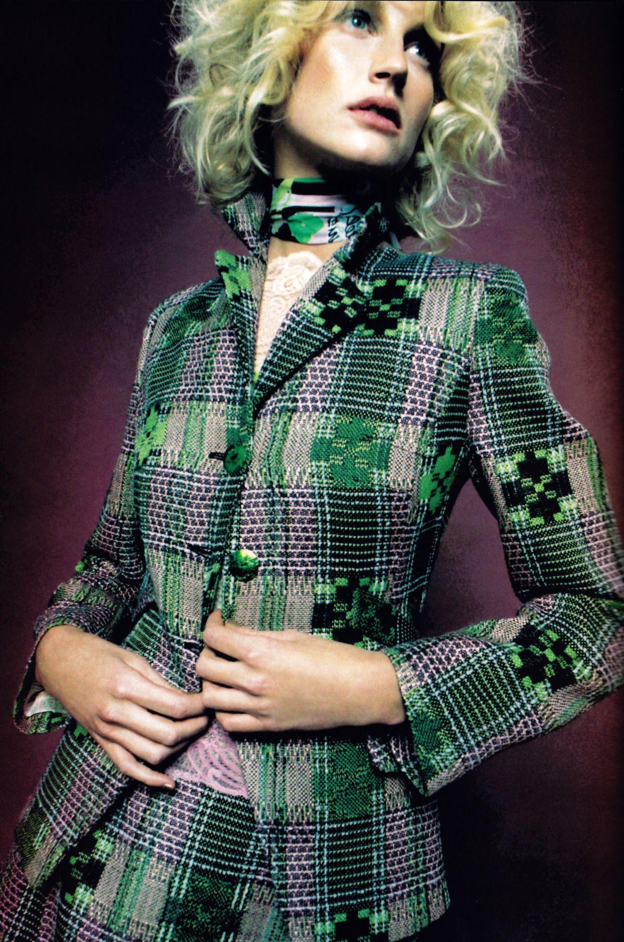 Christian Lacroix, American Vogue, March 1997. Photograph by Francesca Sorrenti.