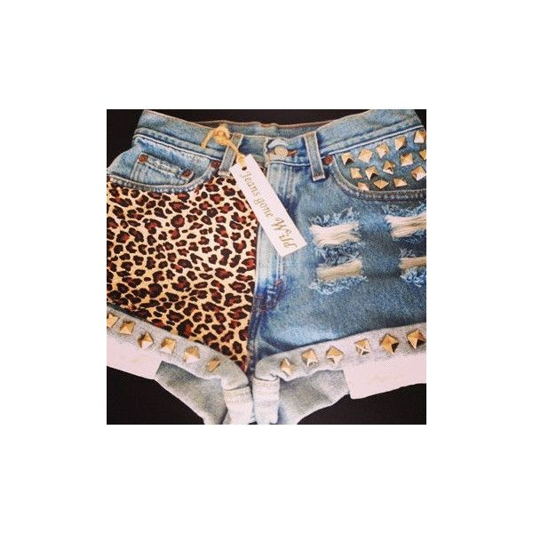 NEW LEOPARD SHORTS by jeansgonewild on Etsy ($65) found on Polyvore