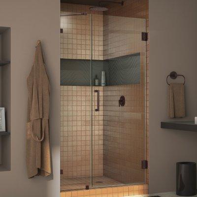Dreamline Unidoor Lux 72 X 44 Hinged Frameless Shower Door With