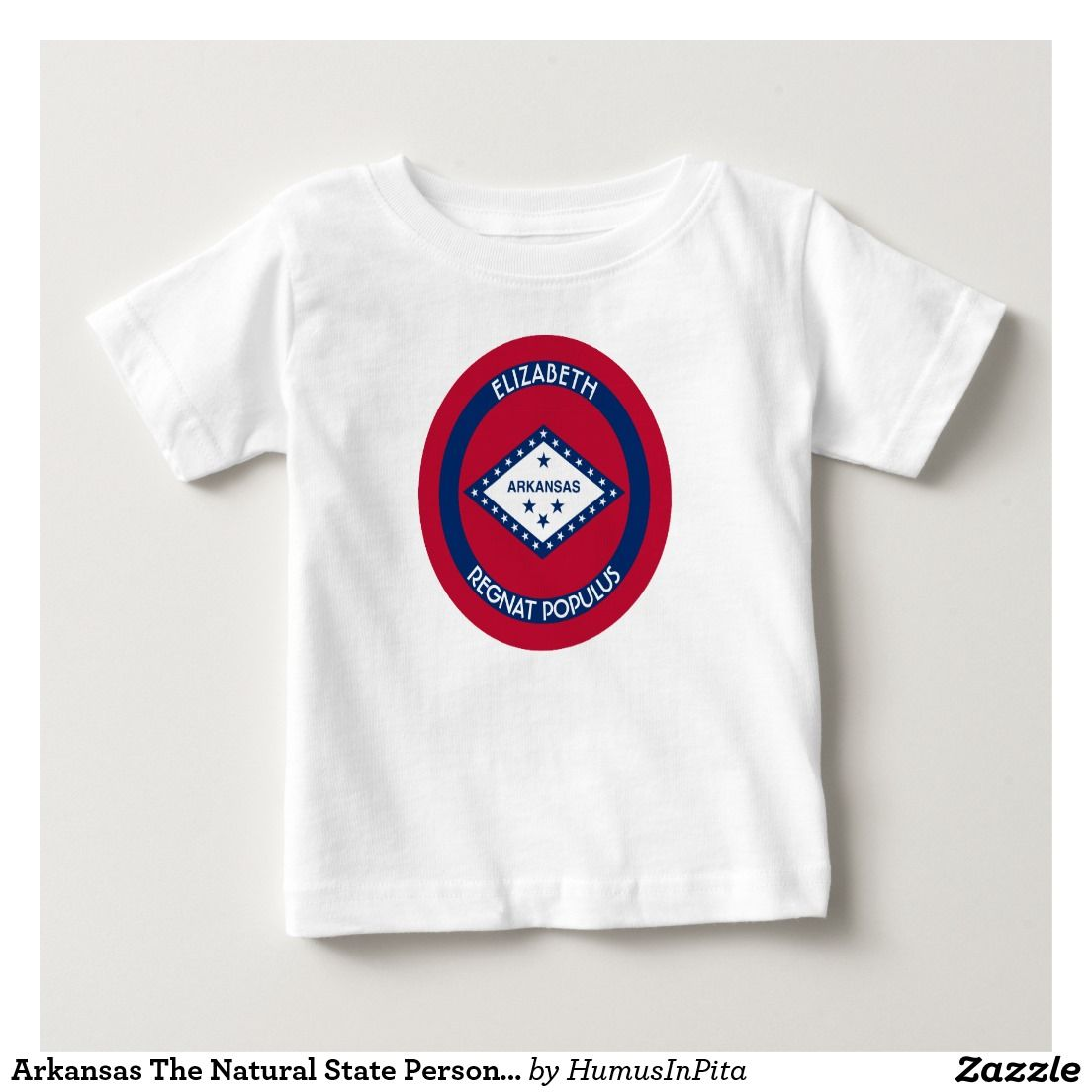 Arkansas The Natural State Personalized Flag Infant T-shirt