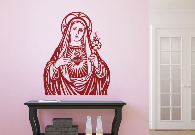 Titles Of Mary Wall Decal Blessed Mother Virgin Mary