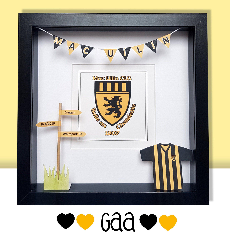 Gaa Custom Gift Any Gaa Club Or County Hurling Gaelic Etsy Girls Graduation Gifts Gifts New Home Gifts