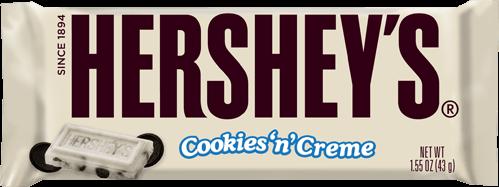 Hershey S Cookies N Creme Candy Bar Hershey Cookies Hershey Logo Hershey Candy